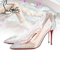 Christian Louboutin Studded PVC Clothing High Heel Pumps & Mules