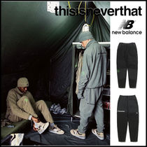 thisisneverthat Unisex Street Style Collaboration Plain Cotton Bottoms