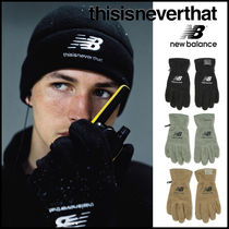 thisisneverthat Unisex Street Style Collaboration Plain Cotton Gloves Gloves