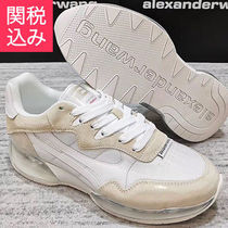Alexander Wang Blended Fabrics Plain Leather PVC Clothing Sneakers