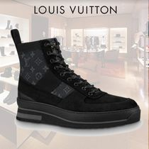 Louis Vuitton MONOGRAM Mountain Boots Suede Plain Outdoor Boots