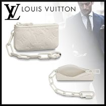 Louis Vuitton TAURILLON Monogram Blended Fabrics Chain Leather Coin Cases