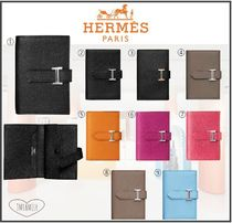 HERMES Bearn Calfskin Plain Folding Wallets