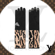 Louis Vuitton Wool Blended Fabrics Plain Other Animal Patterns