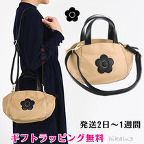 MARY QUANT Flower Patterns Casual Style Nylon 2WAY Shoulder Bags