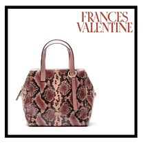 FRANCIS VALENTINE Casual Style 2WAY Other Animal Patterns Leather Handbags