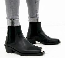 ASOS Blended Fabrics Leather Chelsea Boots Chelsea Boots