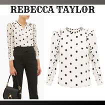 rebecca taylor Dots Long Sleeves Medium Elegant Style Shirts & Blouses