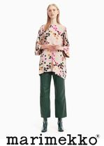 marimekko Crew Neck Flower Patterns Medium Tunics