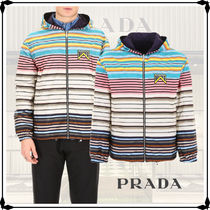 PRADA Short Stripes Plain Windbreaker Jackets