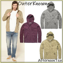 Outer known Pullovers Long Sleeves Plain Handmade Hoodies
