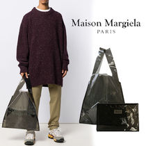 Maison Margiela Unisex Street Style Bag in Bag A4 2WAY PVC Clothing Totes