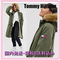 Tommy Hilfiger Casual Style Blended Fabrics Plain Long Parkas