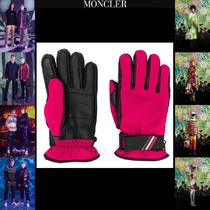 MONCLER GRENOBLE Plain Leather Leather & Faux Leather Gloves