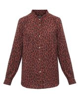 A.P.C. Leopard Patterns Long Sleeves Shirts & Blouses