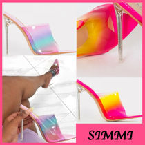 SIMMI Open Toe Pin Heels Elegant Style Heeled Sandals