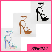 SIMMI Open Toe Platform Casual Style Platform & Wedge Sandals