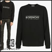 GIVENCHY Street Style Long Sleeves Cotton Sweatshirts