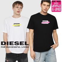 DIESEL Crew Neck Cotton Short Sleeves Crew Neck T-Shirts