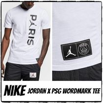Nike AIR JORDAN Crew Neck Street Style Collaboration Short Sleeves
