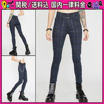 DOLLS KILL Other Check Patterns Casual Style Long Skinny Pants