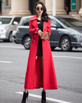 Nylon Plain Long Elegant Style Trench Coats