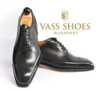 VASS Wing Tip Leather Handmade Oxfords