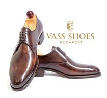 VASS Plain Toe Leather Handmade Oxfords
