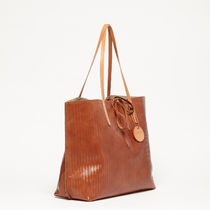 JACK GOMME A4 Plain Leather Totes