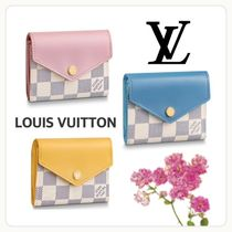Louis Vuitton ZOE Other Check Patterns Unisex Street Style Leather
