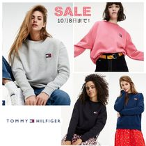 Tommy Hilfiger Plain Cotton Oversized Logo Hoodies & Sweatshirts