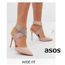 ASOS Plain Pin Heels Elegant Style Pointed Toe Pumps & Mules