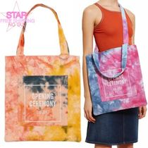 OPENING CEREMONY Casual Style Unisex Canvas Tie-dye A4 2WAY Totes