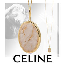 CELINE Unisex Party Style Brass Elegant Style Necklaces & Pendants