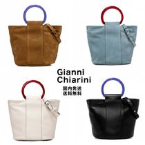 GIANNI CHIARINI Suede 2WAY Plain Leather Handbags