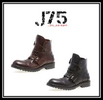J75 by JUMP Straight Tip Faux Fur Street Style Plain Boots