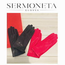 Sermoneta gloves Plain Leather Handmade Leather & Faux Leather Gloves