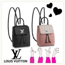 Louis Vuitton LOCKME Casual Style Unisex Calfskin Street Style 2WAY Bi-color