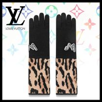 Louis Vuitton Leopard Patterns Blended Fabrics Smartphone Use Gloves