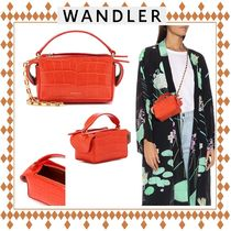 WANDLER Casual Style 2WAY Other Animal Patterns Leather Handmade