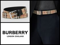 Burberry Other Check Patterns Unisex Blended Fabrics Belts