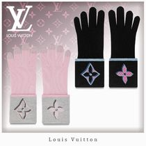 Louis Vuitton MONOGRAM Monogram Wool Bi-color Gloves Gloves
