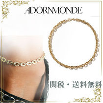 ADORNMONDE Unisex Chain Party Style Brass Anklets