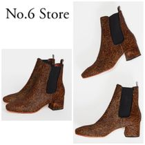 No.6 Store Casual Style Plain Chunky Heels Ankle & Booties Boots