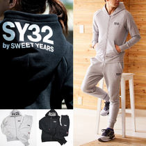 SWEET YEARS Unisex Street Style Top-bottom sets