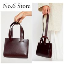 No.6 Store Casual Style 2WAY Plain Leather Handbags