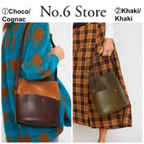 No.6 Store Casual Style 2WAY Plain Leather Shoulder Bags