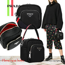 PRADA Casual Style Nylon Blended Fabrics 2WAY Bi-color Plain