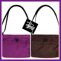 STUSSY Casual Style Street Style Plain Logo Shoulder Bags