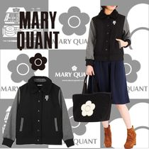 MARY QUANT Unisex Bi-color Home Party Ideas Varsity Jackets